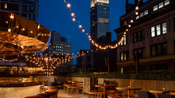 Magic Hour Rooftop Bar & Lounge at Moxy Times Square, New York, USA